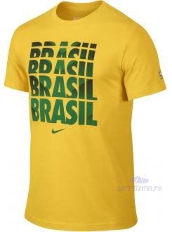 NIKE MAJICA Brasil CBF Core Type Tee Men