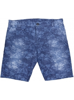 SANTOS BERMUDE Blue Floral Men