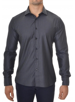 MARSHALL KOŠULJA Black and Gray Elegant (Slim Fit)