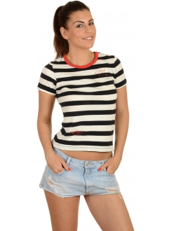 CONVERSE MAJICA Yd Striped Shrunken Tee Women