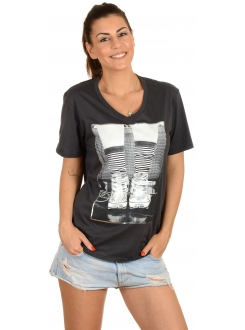 CONVERSE MAJICA Photo Chuch Vneck Bf Tee Women