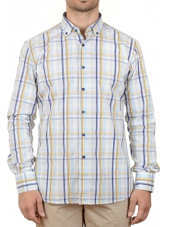 MARSHALL KOŠULJA Blue and Yellow Line (Slim Fit)