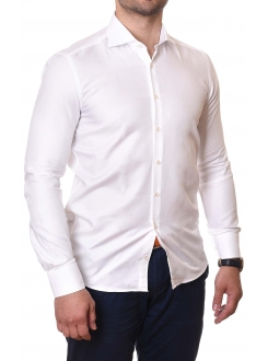 RANCCO KOŠULJA Classic White Slim Fit Men