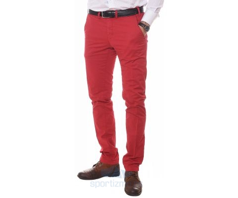 ERIC HATTON PANTALONE Tailored Red Men