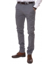 ERIC HATTON PANTALONE Tailored Stylish Gray Men