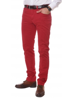 ERIC HATTON PANTALONE Tailored New Fashion Red Men