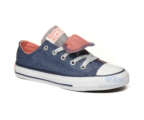 CONVERSE PATIKE Chuck Taylor All Star Double Tongue Shine And Shimmer Low Top