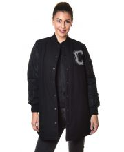 CONVERSE JAKNA Long MA-1 Baseball Jacket Women