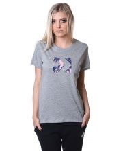 CONVERSE MAJICA Star Chevron Feather Print Fill Crew Tee Women