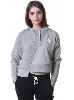 CONVERSE DUKS Sweater Knit Cropped Pullover Hoodie Women