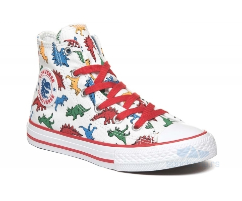 CONVERSE PATIKE Chuck Taylor All Star Dinoverse Junior High Top White