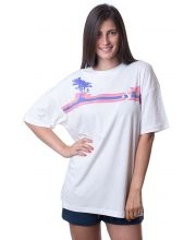 CONVERSE MAJICA Palm Tree Stripes Boxy Tee Women