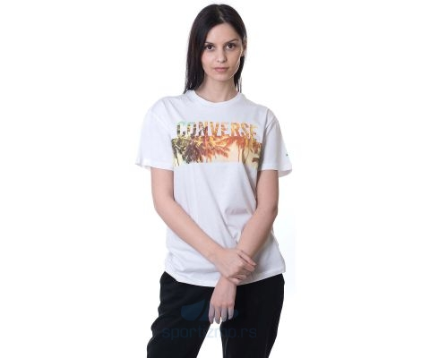 CONVERSE MAJICA Palm Tree Wordmark Crew Women