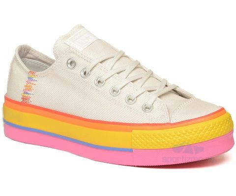 CONVERSE PATIKE Chuck Taylor All Star Rainbow Lift Low Top