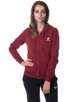 CONVERSE DUKS Star Chevron Embroidered Full Zip Hoodie Women