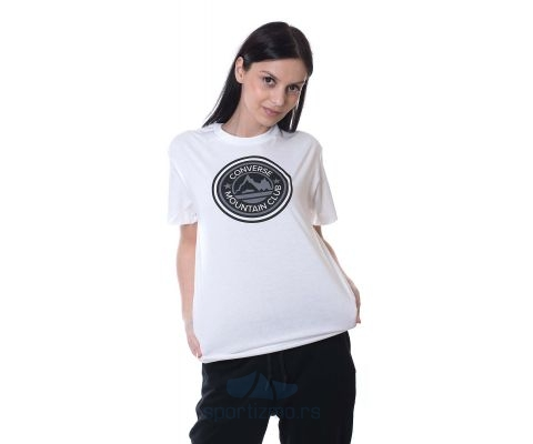 CONVERSE MAJICA Center Front Mountain Club Relaxed Tee Women