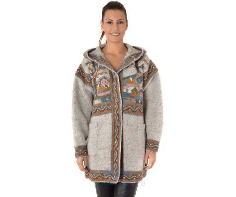 SIROGOJNO JAKNA Ženska Vunena jakna 3789 (ručni rad)
