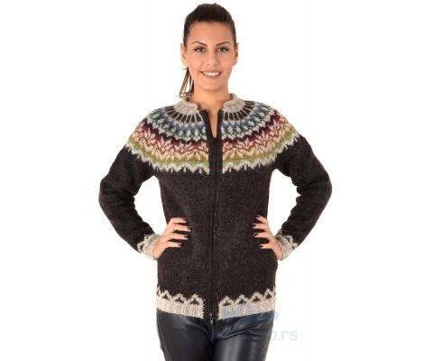 SIROGOJNO DŽEMPER Ženski Pulover od vune Afmaeli (ručni rad)