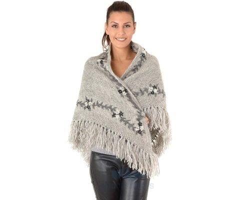 SIROGOJNO ŠAL ženski vuneni šal troper 2905-56 (ručna izrada)