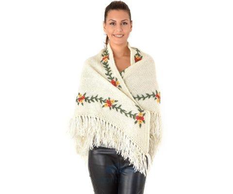 SIROGOJNO ŠAL ženski vuneni šal troper 2905-401 (ručna izrada)