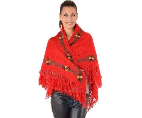 SIROGOJNO ŠAL ženski vuneni šal troper 2905-417 (ručna izrada)