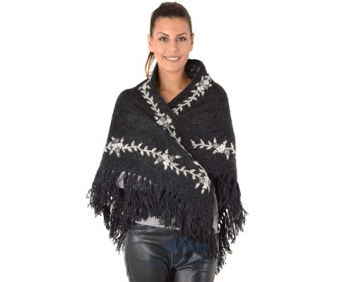 SIROGOJNO ženski vuneni šal troper 2905-420 (ručna izrada)