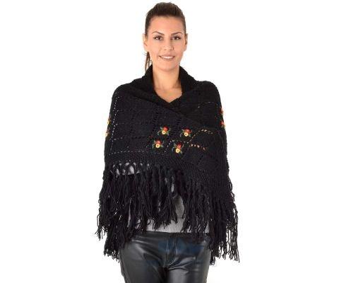 SIROGOJNO ŠAL ženski vuneni šal troper 6157-1-59 (ručna izrada)