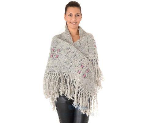 SIROGOJNO ženski vuneni šal troper 6157-1-56 (ručna izrada)