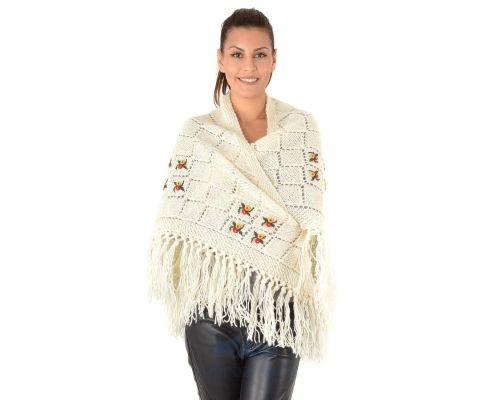 SIROGOJNO ženski vuneni šal troper 6157-1-401 (ručna izrada)