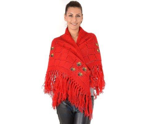 SIROGOJNO ženski vuneni šal troper 6157-1-417 (ručna izrada)