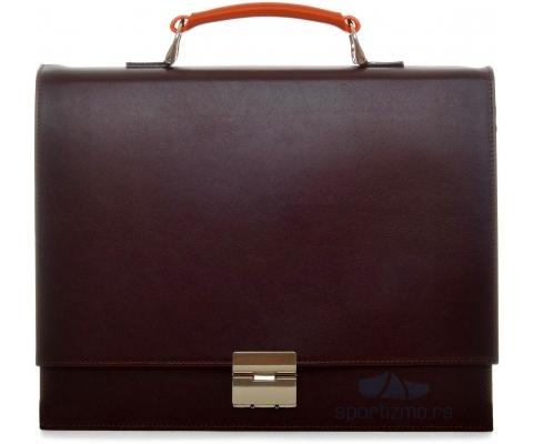 PRINC TORBA Business Men Brown and Orange (Goveđa koža)