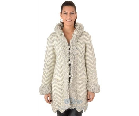 SIROGOJNO JAKNA ženska jakna od vune 4870-1-54 (ručni rad)
