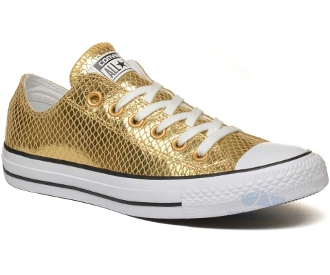 CONVERSE PATIKE Chuck Taylor All Star Metallic Scaled Leather Ox Women