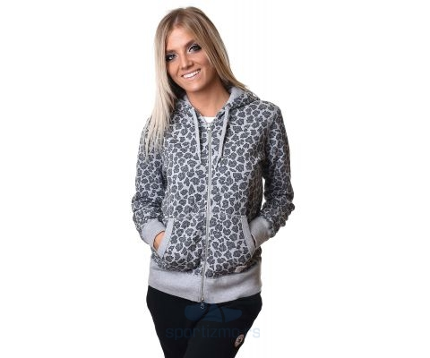 CONVERSE DUKS Essentials Leopard Print Full-Zip Hoodie Women