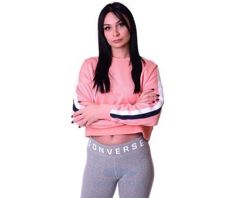 Converse Duks Star Chervon Track Cropped Crew Women