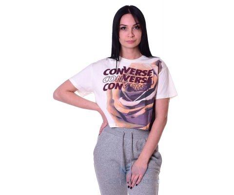 Converse Majica Rose Easy Crop Tee Egret Women