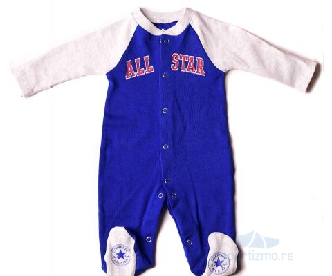 CONVERSE KOMBINEZON Retro Prt Footed Coveral Baby