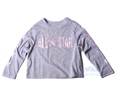 CONVERSE MAJICA All Star Cropped LS Boxy Tee