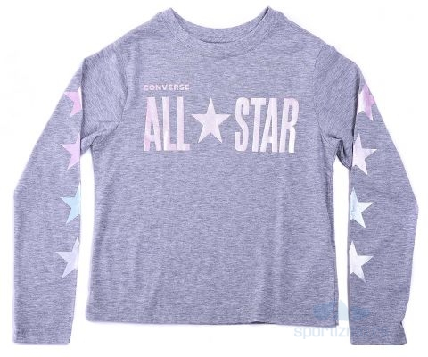 CONVERSE DUKS All Star Cropped LS Boxy Tee Kids