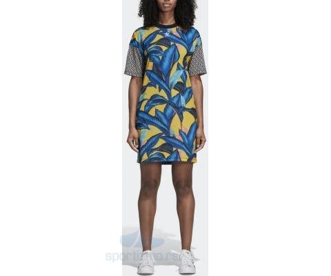 ADIDAS HALJINA Tropical Tee Dress Women