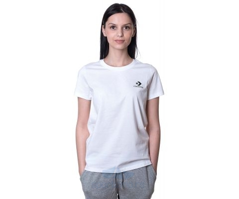CONVERSE MAJICA Stacked Logo Left Chest Tee Women