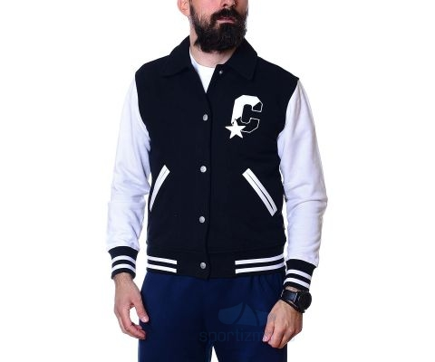 CONVERSE JAKNA Twisted Varsity Knit Jacket Men