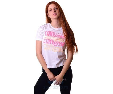 CONVERSE MAJICA Mesh Media Elongated Tee Women