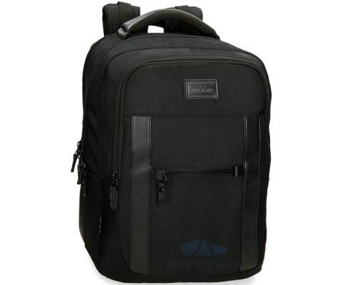 PEPE JEANS All Black Ranac Za Laptop 15,6