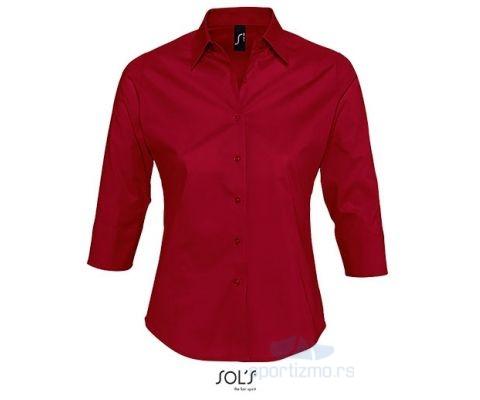 Sols EFFECT Ženska Košulja sa 3/4 Rukavima Crvena XL