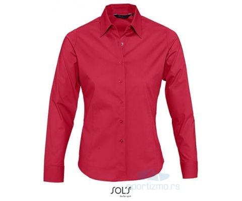 Sols EDEN Ženska Košulja sa Dugim Rukavima Crvena XL