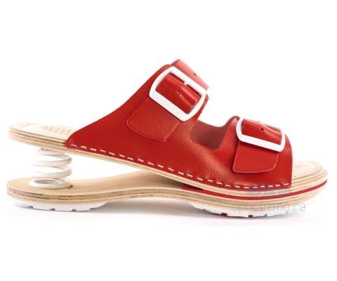 BIANCO MOLINA PAPUČE Feder papuče F202 Crvene