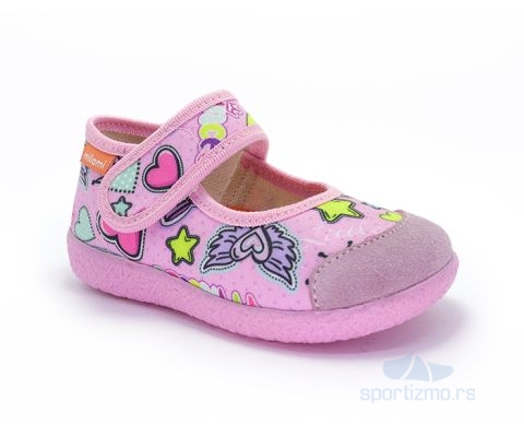 MILAMI PATOFNE Open Color Pink Hearts Kids