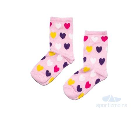 MILAMI ČARAPE Pink Hearts Kids