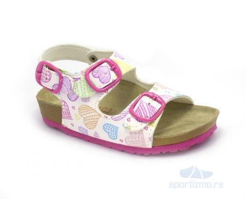 MILAMI Sandale Bali Pink Hearts